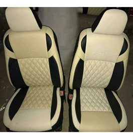 Japanese Leather Type Rexine Seat Covers Black and Beige-SehgalMotors.Pk