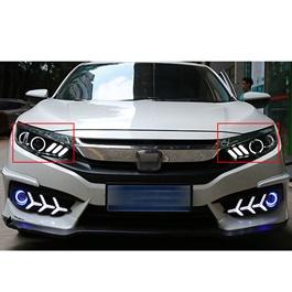 Honda Civic Mustang Style Headlights / Head Lamps - Model 2016-2020-SehgalMotors.Pk