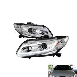 Honda Civic Spec-D LED Projection Headlight / Head Lamp White - Model 2012-2016-SehgalMotors.Pk