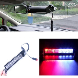 Police Red and Blue Flashers For Dashboard With LED-SehgalMotors.Pk