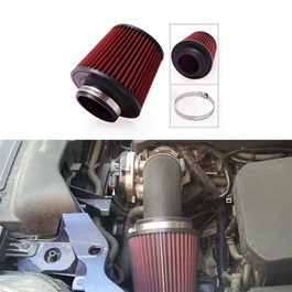 K&N Universal Cold Air Intake Filter - Red | Universal Car Air Filter Vehicle Induction High Power Mesh | Auto Cold Air Hood Intake-SehgalMotors.Pk