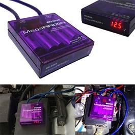 Pivot Mega Raizin Volt Stabiliser | Universal Car Fuel Saver Voltage Stabilizer Regulator With Ground Wires And LED Display-SehgalMotors.Pk