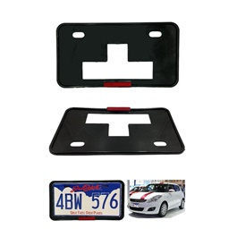 License Number Plate Frame with Reflector - Pair  | Number plate Holder | Car License Plate Frame | Iicense Plate Holder Frame