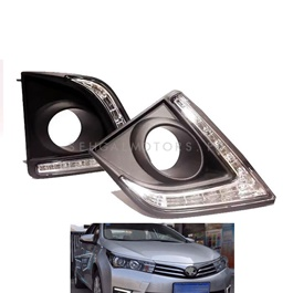 Toyota Corolla SMD DRL Fog Lamps / Fog Lights Covers - Model 2014-2017-SehgalMotors.Pk
