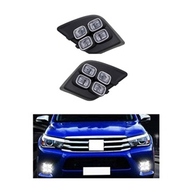 Toyota Hilux Revo LED Fog Lamps / Fog Lights Set - Model 2016-2020-SehgalMotors.Pk