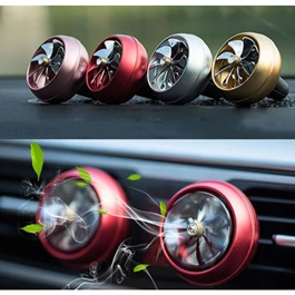 New Style Turbo Fan AC Grill Car Perfume Fragrance - Mix Color-SehgalMotors.Pk