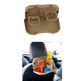 Car Travel Back Seat Diner Cup Dining Tray Table-SehgalMotors.Pk