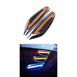 Side Fender Indicators with 3M Adhesive | Auto Car LED Fender Turn signal Side Marker Light Lamp Indicator | Universal Car Side Turn Signal Light Lamp Led Side Marker Turn Signal Light Indicator Blade Shape Fender Lamp-SehgalMotors.Pk