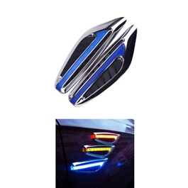 Side Fender Indicator Ferrari Style - Blue | Auto Car LED Fender Turn signal Side Marker Light Lamp Indicator | Universal Car Side Turn Signal Light Lamp Led Side Marker Turn Signal Light Indicator Blade Shape Fender Lamp-SehgalMotors.Pk
