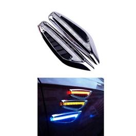 Side Fender Indicator Ferrari Style - White  | Auto Car LED Fender Turn signal Side Marker Light Lamp Indicator | Universal Car Side Turn Signal Light Lamp Led Side Marker Turn Signal Light Indicator Blade Shape Fender Lamp-SehgalMotors.Pk