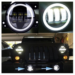 Jeep Fog Lamps / Fog Lights Style B Small For Bumper-SehgalMotors.Pk
