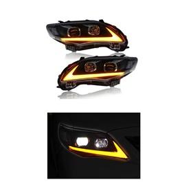 Toyota Corolla NIKE Style Headlights / Head Lamps - Model 2014-2017-SehgalMotors.Pk