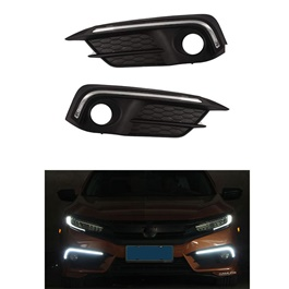 Honda Civic X DRL Fog Lamps / Fog Lights Cover - Model 2016 - 2020 -SehgalMotors.Pk