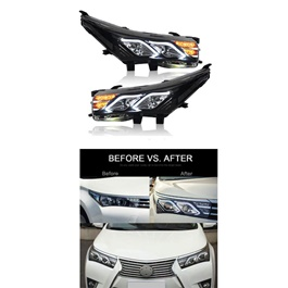 Toyota Corolla Headlights / Head Lamps Mercedes Benz Style - Model 2014-2017-SehgalMotors.Pk