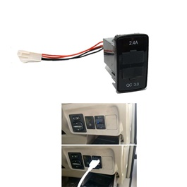 Toyota In-Dash Dual USB Socket OEM Quality For Mobile Fast Charge