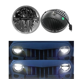 Jeep Headlights / Head Lamps High Low 7 inches Pair - MX6088DB-SehgalMotors.Pk