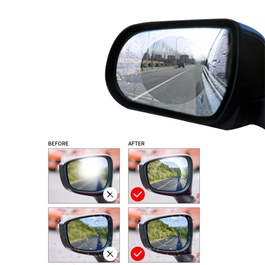 Anti Fog Rear view Side Mirror Circle Waterproof Film - Pair-SehgalMotors.Pk
