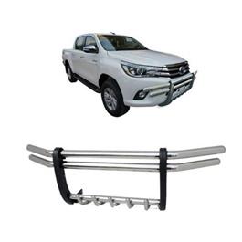 Toyota Hilux Revo Stainless Steel Grille Guard Bull Bar - Model 2016-2020-SehgalMotors.Pk