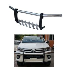 Toyota Hilux Vigo Stainless Steel Front Bull Bar- Model 2005-2016-SehgalMotors.Pk