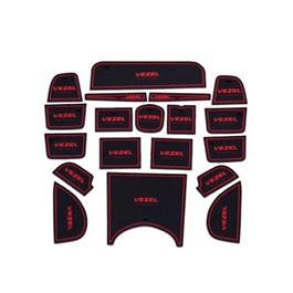 Honda Vezel PVC Interior Mats Red - Model 2013-2019-SehgalMotors.Pk