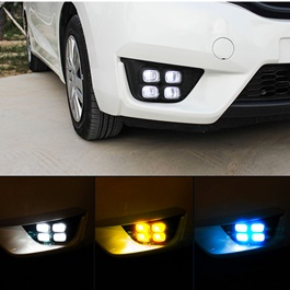 Honda Fit Fog Lamps / Fog Lights DRL Covers Bugatti Style - Model 2013-2019-SehgalMotors.Pk
