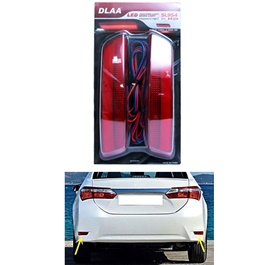 Toyota Corolla Lava Brake Lamp Model 2014-2017 | Rear Bumper Reflector Brake Stop Reverse Light Lamp | | LED Rear Bumper Reflector Light | | Rear Bumper Fog Light-SehgalMotors.PK