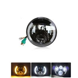 YBR LED Projection Headlight / Head Lamp Half DRL Light 1 Piece-SehgalMotors.Pk