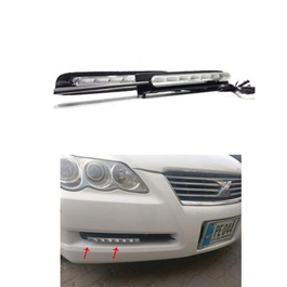 Toyota Mark X Fog lamp DRL with OEM Fitting | Drl | Running Lights For Car | Car lamp | Car Fog Lamp Waterproof | Led Car Lights Exterior Drl-SehgalMotors.Pk