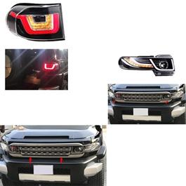 Toyota Fj Cruiser Conversion / Upgrade Grill Headlight Back light - Model 2006-2017-SehgalMotors.Pk