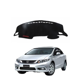 Honda Civic Dashboard Carpet For Protection and Heat Resistance Black - Model - 2012 - 2016