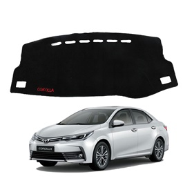 Toyota Corolla Dashboard Carpet For Protection and Heat Resistance Black - Model - 2018 - 2019-SehgalMotors.Pk