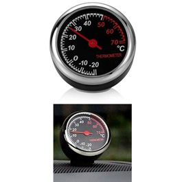 Car Automobile Thermometer Clock Car | Car Interior Decoration Ornament Car Styling | Round Shape Car Automobile Digital Clock Auto Watch/Thermometer-SehgalMotors.Pk