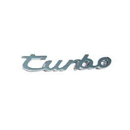 Turbo Metal Chrome Emblem Logo with Double tape    Emblem   Decal   Monogram   Logo-SehgalMotors.Pk