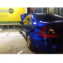 Glossy Electric Blue Car Wrap Per Sq Ft - PL605 | Car Vinyl Wrap Film | Car Wrapping | Vehicle Wrap