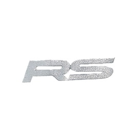 RS Sticker Silver - Each   Car Sticker   Car Sticker Logo   Fancy Sticker For Car   Modification Sticker-SehgalMotors.Pk