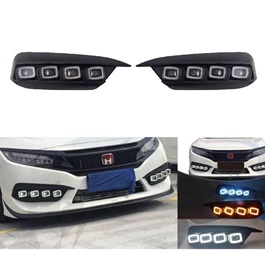 Honda Civic Bugatti Style DRL Fog Lamp - Model 2016-2020-SehgalMotors.Pk