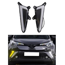 Toyota CHR Fog Lamps / Fog Lights DRL Cover Nike Style  Model 2017-2019-SehgalMotors.Pk