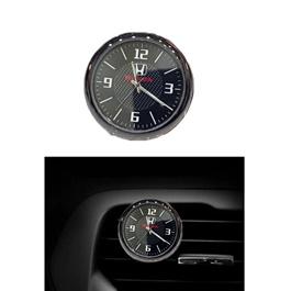 Honda Car Dashboard And AC Grill Clock  | Car Dashboard Quartz Clock | Car Clock | Mini Automobiles Internal Stick On Digital Watch | Auto Ornament Car Accessories Gifts-SehgalMotors.Pk