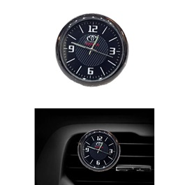 Toyota Car Dashboard And AC Grill Clock | Car Dashboard Quartz Clock | Car Clock | Mini Automobiles Internal Stick On Digital Watch | Auto Ornament Car Accessories Gifts
