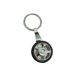 Toyota Tire / Tyre Rim Key Chain / Key Ring With Blue Logo-SehgalMotors.Pk