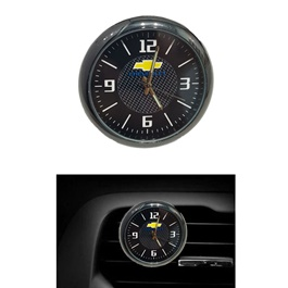 Chevrolet Car Dashboard And AC Grill Clock  | Car Dashboard Quartz Clock | Car Clock | Mini Automobiles Internal Stick On Digital Watch | Auto Ornament Car Accessories Gifts-SehgalMotors.Pk