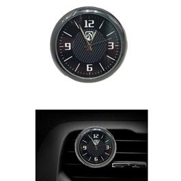 Ferrari Car Dashboard And AC Grill Clock | Car Interior Decoration Ornament Car Styling | Round Shape Car Automobile Digital Clock Auto Watch/Thermometer-SehgalMotors.Pk