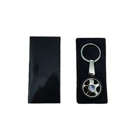 Honda Tire / Tyre Rim Key Chain / Key Ring With Blue Logo-SehgalMotors.Pk