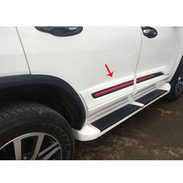 Toyota Fortuner Body Cladding Red and Black - Model 2016-2020-SehgalMotors.Pk