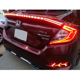Honda Civic Cobra Style Running LED Spoiler - Model 2016-2020-SehgalMotors.Pk