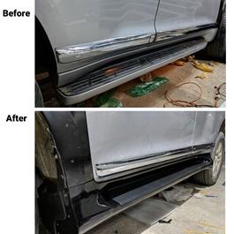 Toyota Prado Foot Steps Cover - Model 2009-2019 | Metal Pedal Foot Board Side Step Plate | Side Steps For Car | Sporty Look Side Steps-SehgalMotors.Pk