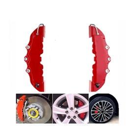 Brake Disk Caliper Cover Pair Medium   Car Disc Brake Caliper   3D Word Red Brake Cover-SehgalMotors.Pk