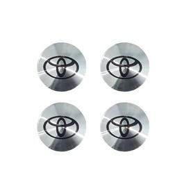 Toyota Wheel Cap Logo Chrome - 4 Pieces | Wheel Center Cap | Wheel Logo | Wheel Center Hub Caps | Wheel Dust Proof Covers Badge logo-SehgalMotors.Pk