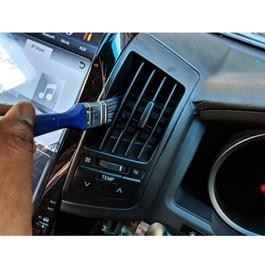 Car Care interior Detailing Brush Blue | Car Detailing Brush | Ac Vent Clean Brush | Dust Remover Brush For Car Interior | Car Interior Cleaning Wheel Gap Rims Dashboard Accessories-SehgalMotors.Pk