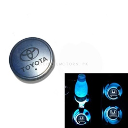 Toyota RGB LED Car Cup Holder Plate - 1 piece  | Car RGB LED Cup Holder Mat Pad Coaster Rechargeable Interior Atmosphere Lamp Decoration Light for Car Home Party | RGB LED Cup Holder Car Cup Pad Cup Holder Mat Water Drinks Pad Light Car Accessories
